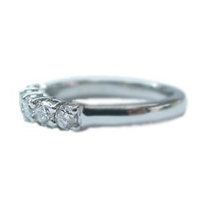 Platinum 5-Stone Round Cut Diamond Anniversary Ring