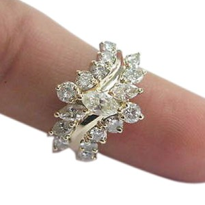 14K Yellow Gold & Diamond Cluster Ring