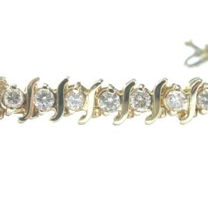 14K Yellow Gold & Diamond Tennis Bracelet