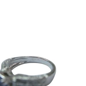 White Gold Tanzanite Diamond Anniversary Jewelry Ring