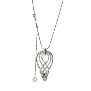 Damiani 18K White Gold Diamond Necklace