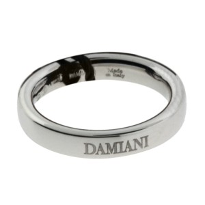 Damiani 18K White Gold Band Ring Size 5.75