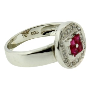 Le Vian 18K White Gold Diamond & Ruby Ring