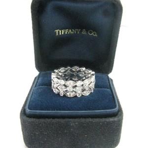 Tiffany & Co. PT950 Platinum with 1.40ct Diamond Swing 3-Row Ring Size 5