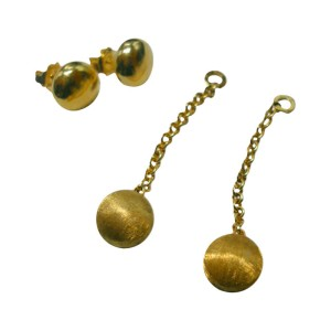 Chimento 18k Yellow Gold High Polish Hand Finished Earrings