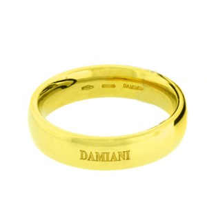 Damiani 18K Yellow Gold Wedding Band Ring Size 7.5