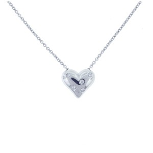 Tiffany & Co. Platinum Etoile Heart Pendant