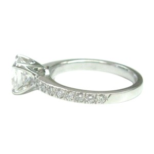 Tiffany & Co. PT950 Platinum with 0.93ct Diamond Engagement Ring Size 3.5