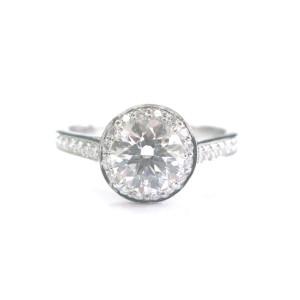 Tiffany & Co Platinum Diamond Embrace Engagement Ring
