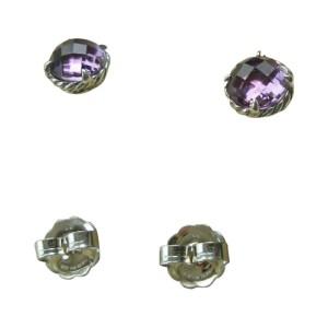 David Yurman Chatelaine Purple Amethyst  Sterling Silver Earrings