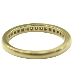 Tiffany & Co. 18K Yellow Gold & 0.24ct Diamond Channel Set Band Ring Size 6.5