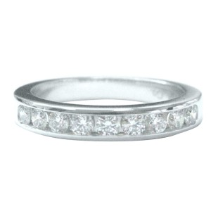 Tiffany & Co. Platinum with 0.33ct Diamond Channel-Set Half Circle Ring Size 4.25