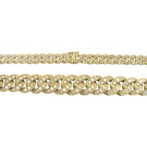 18K Yellow Gold 5.26ct. Diamond Chain Necklace