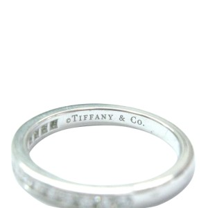 Tiffany & Co. PT950 Platinum with 0.24ct Diamond Channel Set Band Ring Size 6