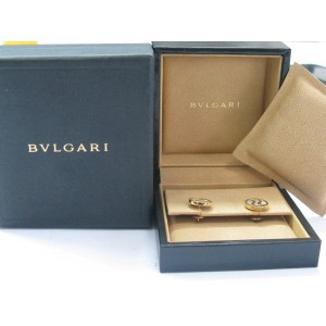 Bulgari 18K Yellow Gold Mother of Pearl Optical Stud Earrings