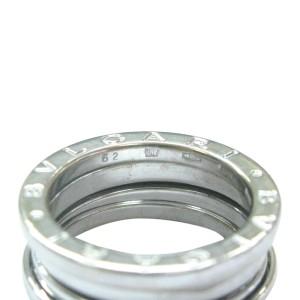 Bulgari 18K White Gold Ring Size 6.25