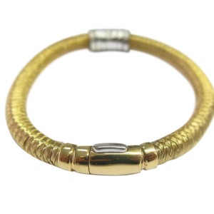 Roberto Coin 18K Yellow Gold with 0.60ct Diamond Woven Bar Bracelet