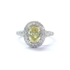 Tiffany & Co. 18K Yellow Diamond Plat Fancy Intense Soleste Ring