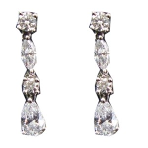 Tiffany & Co. Platinum & Diamond Swing Drop Earrings