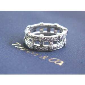 Tiffany & Co. Platinum Weave Diamond Band Ring
