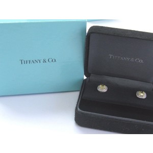 Tiffany & Co. Platinum Yellow Diamond Soleste Stud Earrings
