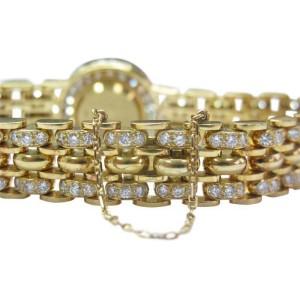 Alan Adler 18Kt Women's Yellow Gold 6.00CT Diamond Quartz Watch