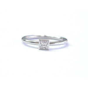 Tiffany & Co Platinum Princess Cut Diamond Solitaire Ring