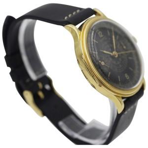 Rare Eberhard & Co. 18K Yellow Gold Chronograph Mens Watch