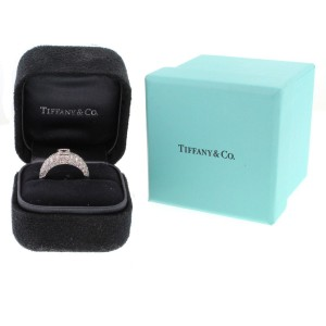 Tiffany & Co. Platinum Pave and Emerald Cut Ring