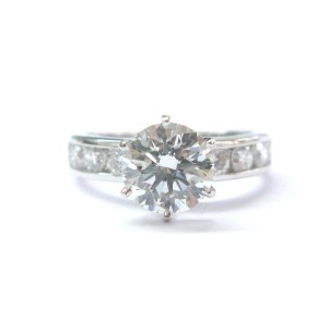 Tiffany & Co Platinum Diamond Channel Set Engagement Ring