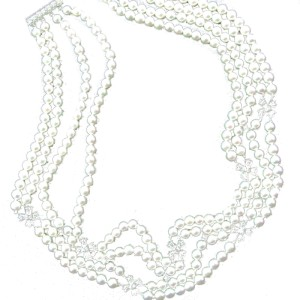 Tiffany & Co. Platinum Cultured Pearl Diamond Choker
