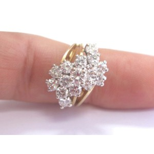 14K Yellow Gold 2.26 ct. Diamond Cluster Ring