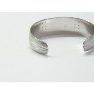 Tiffany & Co.18K White Gold Streamerica Diamond Bangle Cuff
