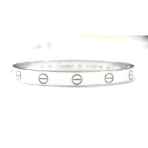Cartier 18K White Gold Love Bracelet Size 17