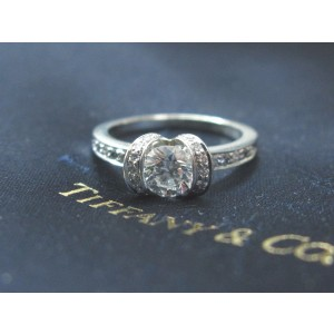 Tiffany & Co. Platinum Ribbon Diamond Engagement Ring