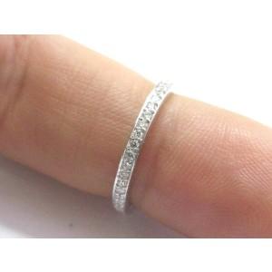 18K White Gold Round Cut Diamond Eternity Band Ring