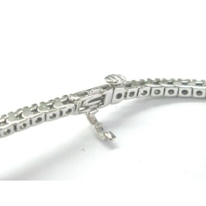 White Gold Fine Round Cut  2.00 ct Diamond 62 Stones Tennis Bracelet