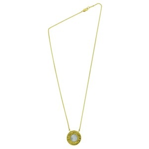 Carrera Y Carrera 18K Yellow Gold Reversible Mother Of Pearl & Onyx Necklace