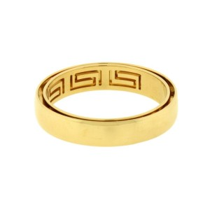 Versace 18K Yellow Gold Motion Band Size 11.5