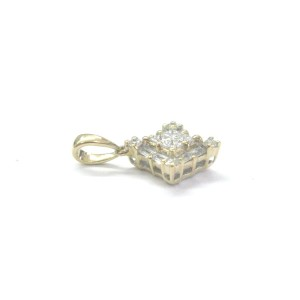 18K Yellow Gold .45ct Diamond Pendant