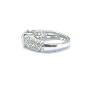 14K White Gold & 0.50ct Diamond Engagement Ring Size 4.5