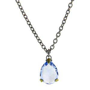 Judith Ripka 18K Yellow Gold and 925 Sterling Silver Topaz Necklace