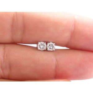 14K White Gold .50ct. Diamond Stud Earrings
