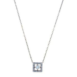 Boucheron 18k Yellow Gold 1.00ct Princess Cut Diamond Necklace