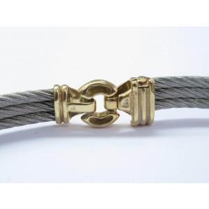 Philippe Charriol 18K Yellow Gold & Stainless Steel Necklace Bracelet Earrings