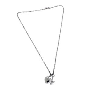 Tiffany & Co. Platinum Diamond Key & Heart Pendant Necklace