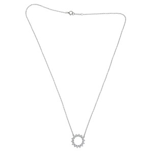 Tiffany & Co. 950 Platinum Poetry In Motion Diamonds Pendant Necklace