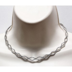 Gregg Ruth 18K White Gold 2.15 Ct Diamond Necklace