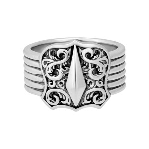 Stephen Webster 925 Sterling Silver Highwayman Shield Ring Size 11