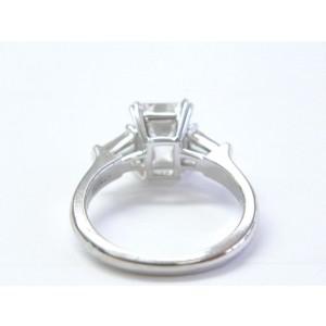 Harry Winston Platinum Emerald, Diamond Womens Ring Size 5.5